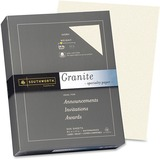 Southworth Colors + Textures 934C Multipurpose Paper - 8.50 x 11 - Granite, Smooth - 500 x Sheet