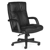 Global Troy Series High-Back Swivel/Tilt Arm Chair
