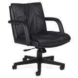 Global Troy Series Low-Back Swivel/Tilt Arm Chair