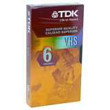 Standard Grade VHS Videotape Cassette, 6 Hours  MPN:36330
