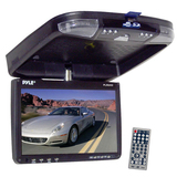 Pyle PLRD92 Car DVD Player - 16:9 - DVD Video, Video CD, MP4, SVCD, MPEG-1, MPEG-2, DivX - FM - Secure Digital (SD)640 x 234 - iPod/iPhone Compatible - Roof-mountable