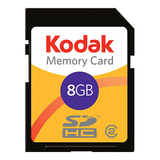 Lexar Media Kodak 8 GB Secure Digital High Capacity (SDHC) Card - KSD8GBPSBNA