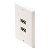 Steren 2 Socket HDMI Faceplate