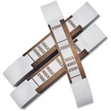 PM $5000 Currency Strap - Self-adhesive - Kraft - White, Brown