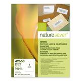 Nature Saver Full Sheet File Folder Label