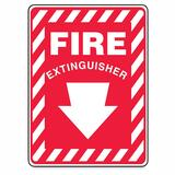 Accuform Signs Fire Extinguisher Sign