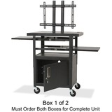 Balt Height Adjustable Flat Panel TV Cart