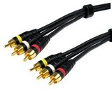 Cables Unlimited 6ft Pro A/V Series Composite A/V Cables