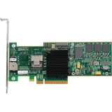 LSI Logic MegaRAID 8704EM2 SAS RAID Controller - Serial Attached SCSI, Serial ATA/300 - PCI Express x8 - Plug-in Card