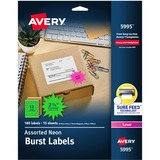 05995 - Avery Burst Laser Label
