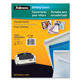 "Fellowes Thermal Presentation Covers - 1/4"", 60 sheets, Blue 52223"
