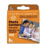 Hutchings & Patrick Self-adhesive Photo Corner - Acid-free - Dispenser Included - 250 / Pack - Clear