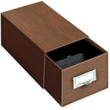 Globe-Weis Index Card Box With Follower Block