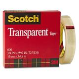 3M Scotch Glossy Transparent Tape 600-3/4X72