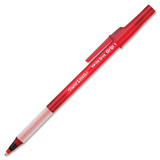 Paper Mate Write Bros. Grip Ballpoint Pen - Red Ink - Translucent Barrel - 12 Each Box