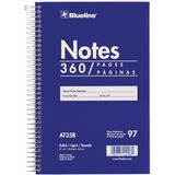 Blueline White Paper Wirebound Steno Pad AT35B