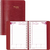 Brownline Essential Daily Appointment Journal CB634W-RD