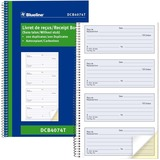 Blueline Receipt Form Book DC4074-T