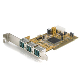 StarTech.com 3-Port PCI 12V PoweredUSB Adapter Card