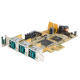 StarTech.com 3 Port LP PCI Express 12V PoweredUSB Adapter Card - USB PlusPower PEX312PUSBLP