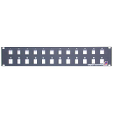 StarTech.com 24 Port 2U Rackmount Blank Patch Panel for Keystone Jacks BLANKPATCH24