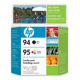 HP 94 / 95 Black and Tri-color Ink Cartridge C9354FC#140