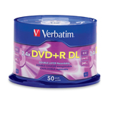 Verbatim 96577 DVD Recordable Media - DVD+R DL - 2.4x - 8.50 GB - 50 P - 96577