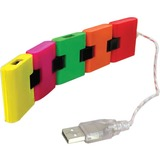 CTA Digital LT-S4C Fold n Go 4-Port USB Train-Style Hub