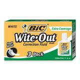 BIC Wite-Out Extra Coverage Correction Fluid - WOFEC324