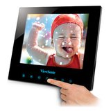 Viewsonic DPG807BK Digital Photo Frame with SwifTouch Controls DPG807BK