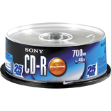Sony CD Recordable Media - CD-R - 48x - 700 MB - 25 Pack Spindle 25CDQ80RSP