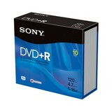 Sony 10DPR47R4 16x DVD+R Media - 4.7GB - 120mm Standard - 10 Pack Jewel Case