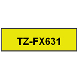 Brother P-Touch TZ Black on Yellow Flexible Tape