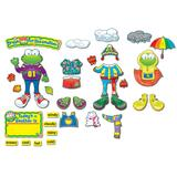 Carson-Dellosa Weather Frog Bulletin Board Set - Weather - 43 Pieces