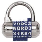 Master Lock Set-Your-Own Password Plus Combination Padlock - Master Keyed - Metal - Assorted