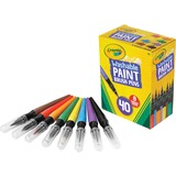 Crayola Crayola No Drip Paint Brush Pen - Assorted Ink - 40 / Box