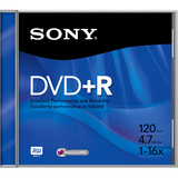 Sony DPR47R4 DVD Recordable Media - DVD+R - 16x - 4.70 GB Jewel Case DPR47R4