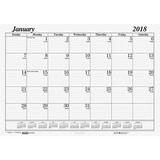 House of Doolittle Economy Desk Pad Calendar Refill - 126