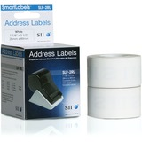 Seiko White Address Labels (1 1/8 X 3 1/2 in) for Smart Label Printers 130 / Roll - 2 Rolls Per Box