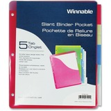 Winnable 5-Tab Slant Binder Pocket TP-55AD