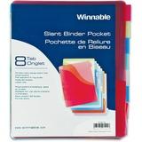 Winnable 8-Tab Slant Binder Pocket TP-88AD