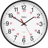GBC 9847027 Bates 12/24 Quartz Wall Clock
