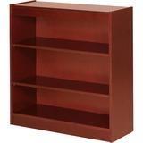 Lorell Three Shelf Panel Bookcase