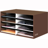 Fellowes Bankers Box Literature Sorter - 8 Compartment(s) - Mocha Brown