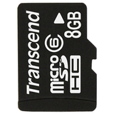 Transcend 8GB microSD High Capacity Card (Class 6)