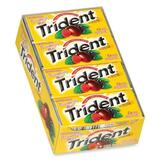 Cadbury Sugar-free Trident Gum - Mint, Raspberry - Individually Wrapped - 12 / Pack