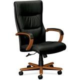 Basyx VL844 Executive Wood High-Back Chairs