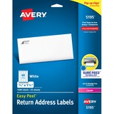 Avery Easy Peel Return Address Label - 5195