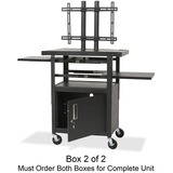 Balt Adjustable Height Flat Panel TV Cart - Black