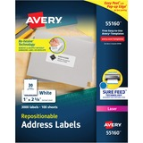 Avery Repositionable Mailing Label 55160